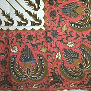 Vintage Screen Printed Combed Cotton Indonesian Bali Tablecloth