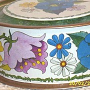 Round Meister Tin Brazil Cookie Cutter Floral Design