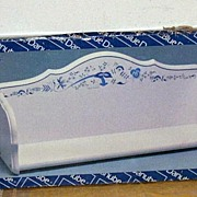 Vintage Blue Danube Wood Kitchen Wall Shelf