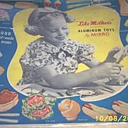 SALE Vintage Toys...Rare..MIRRO Aluminum Bake Set..Original Box..Un-Used