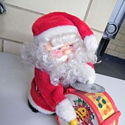 Vintage HAPPY SANTA Toy..NIB..Made in Taiwan..