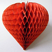 Honeycomb Hanging Heart Decoration