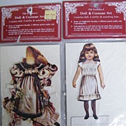 Vintage VICTORIAN STYLE Paper Doll & Costume Set ..By Merrimack Publishers..Printed. .Hong Kong:NIB..2 Sets Available