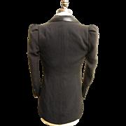 Women's Tuxedo Jacket With Tail...Black...Satin Trim..Robert Rodriguez..Size Small