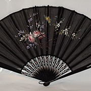 SOLD Hand Painted Victorian Fan....