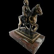 Early 20th Century Brass Napoleon on Horseback...