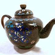 19Th Century  Miniature Cloisonne Teapot...