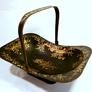 SOLD Late 19Th Century Tole Basket....