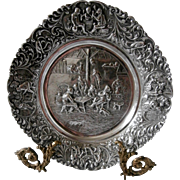 Late 19th Century Sterling Repousse Dish...