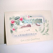 Christmas Postcard In 3D