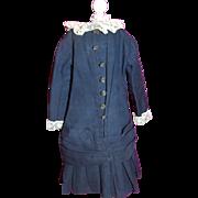 """Antique Wool Dress for 28"""" Bru Jne"""