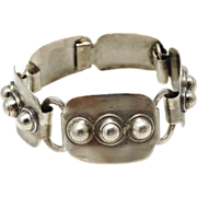 SOLD Victoria Taxco #67 Mexican Modernist Sterling Silver Bracelet