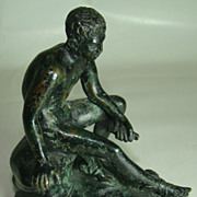 Bronze of a Young Mercury Seated – Circa: Early 1900's