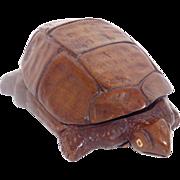 Decorative Wood Carving – Turtle Figure