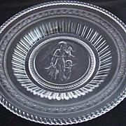 Early American Pattern Glass Serving Plate - Minerva/Cupid & Venus Pattern
