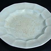English White Ironstone Dessert Plate – James Edwards & Son  Circa: 1842 -1851