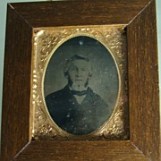 Framed Tintype – Formal Portrait of a Gentleman