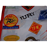 Vintage Railroad Scarf for the Railroadiana Collector