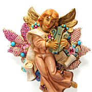 SALE Ian St. Gielar Stanley Hagler Signed ANGEL work of ART Brooch