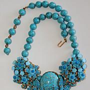 SALE Ian St. Gielar Stanley Hagler Heavy Turquoise Necklace