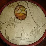 Great Little Powder Tin Lavender Bath Langlois New York Tindeco