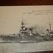SALE 1909 French Warship Real Picture Postcard Sent to Princeton, KY