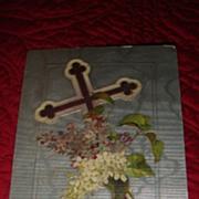 "SALE Beautiful 1909 Raphael Tuck ""Joyful Eastertide"" Embossed Postcard with Cross &a"