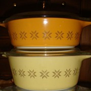SALE PENDING 3 Serve & Store  Pyrex Casserole or Refrigerator Dishes Snowflake Town &