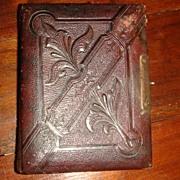 SALE Beautiful Tooled Leather CDV ALBUM Civil War Era Photographs  Carte de Vista