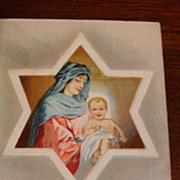 Beautiful German Early 1900's Embossed Easter Postcard Star of David, Mary, The Messiah