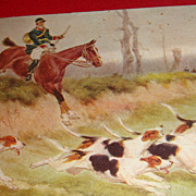 "SALE Beautiful Unsigned ""Hunt"" Scene Postcard from 1909"