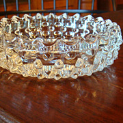 Clear Crystal Hobnail Vintage Ashtray Tobacciana Collectible!
