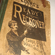 LEARY'S READY RECKONER 1904 Form Book & Wages Calculator Oldest Bookstore Philadelphia, PA