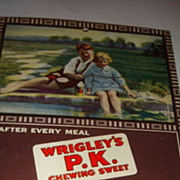 SALE 1923-24 Postcard Size Advertising Calendar Wrigley's P.K. Chewing Sweet Gum, With Childre