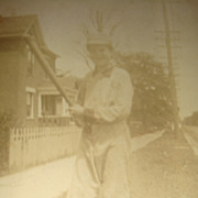 Early 1900's Real Photo Picture Postcard Boy in Baseball Uniform Paducah, KY Estate