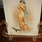 SALE Lyre Shaped Vintage Lucite Frame With Two Sides Photos Lovely Ladies