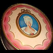 SALE Richard Hudnut DuBarry Face Powder Box Cameo Style Portrait Box