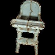 SALE Primitive Kilgore Cast Iron Dollhouse High Chair 1920's-30's
