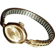 SALE Marquise Shaped Face Helbros Vintage Manual Wind Watch Keeping Time