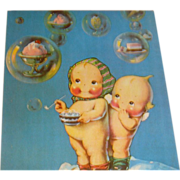 SALE Pink Cheek Kewpie Dolls Postcards Bubbles of Ice Cream 1972 Dray's Collection
