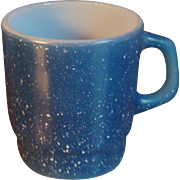 SALE Fire King Anchor Hocking Blue Speckled Granite Mug