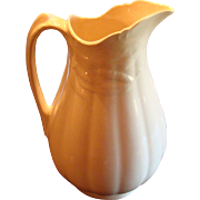 SALE Wm. Adams and Sons English White Ironstone Tall Wheat Pitcher Ewer