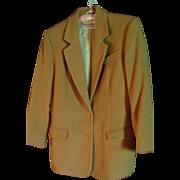 SALE Vintage Classic Richard Evans Limited Edition 100% Camel's Hair Jacket Size 10 Blazer Coa