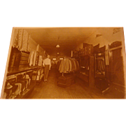 SALE Great Old Photograph Men's Clothing Store Suits, Ties, Hats, Steamer Trunks, Argyle Sweat