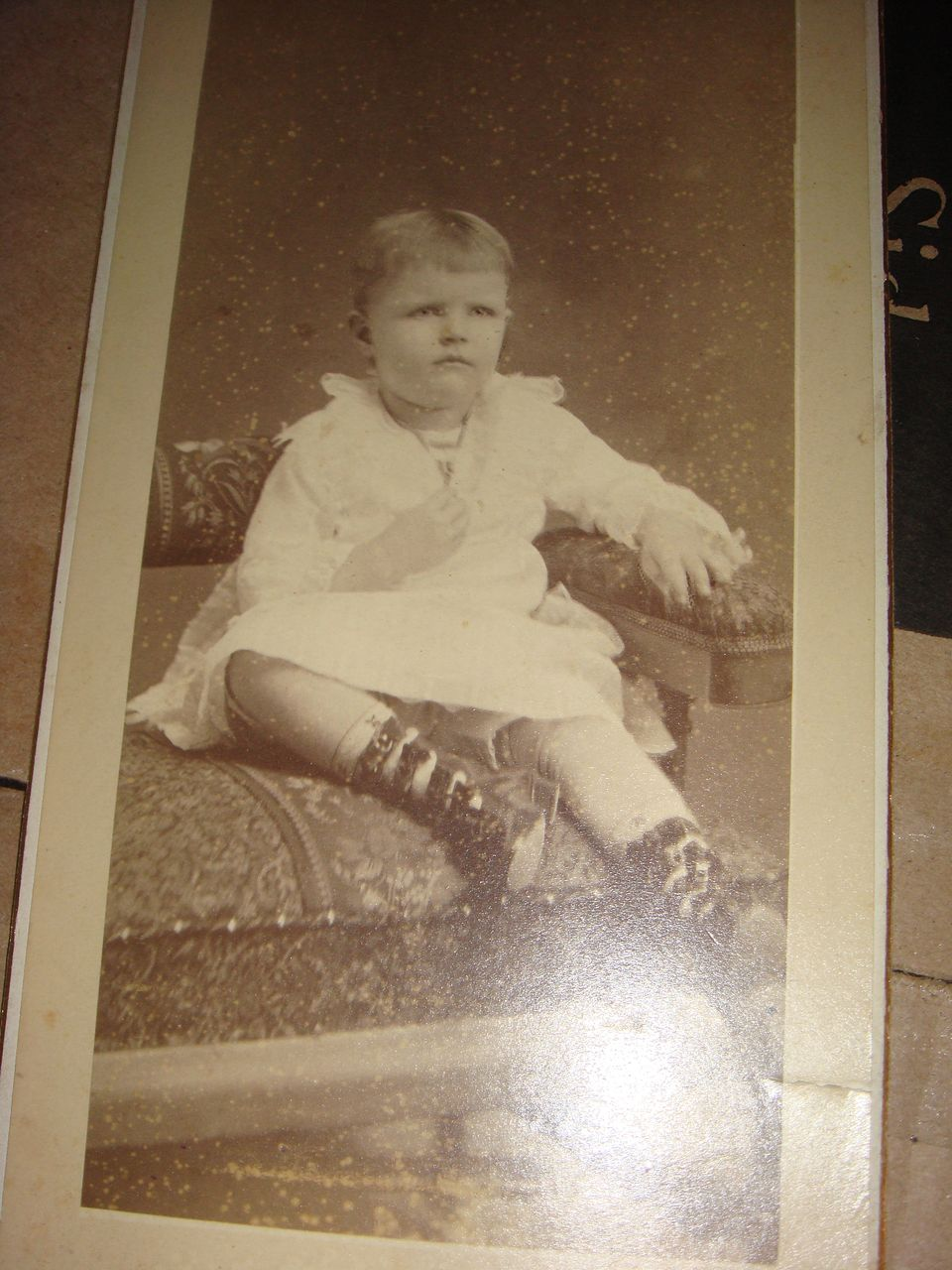 Cabinet Card Photo Sydney, Ohio Darling Child High Buckle Shoes