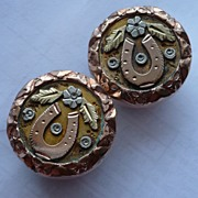 Victorian Rolled Gold Horseshoe Cufflinks