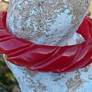 Red Prystal Bakelite Bracelet