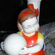 Porcelain Vintage Little Girl Lamp