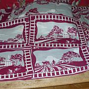 8 Placemats 8 Napkins & Runner 1940's Linen Print Set