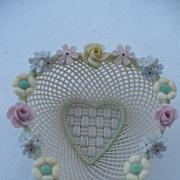 Belleek Floral Heart Dish